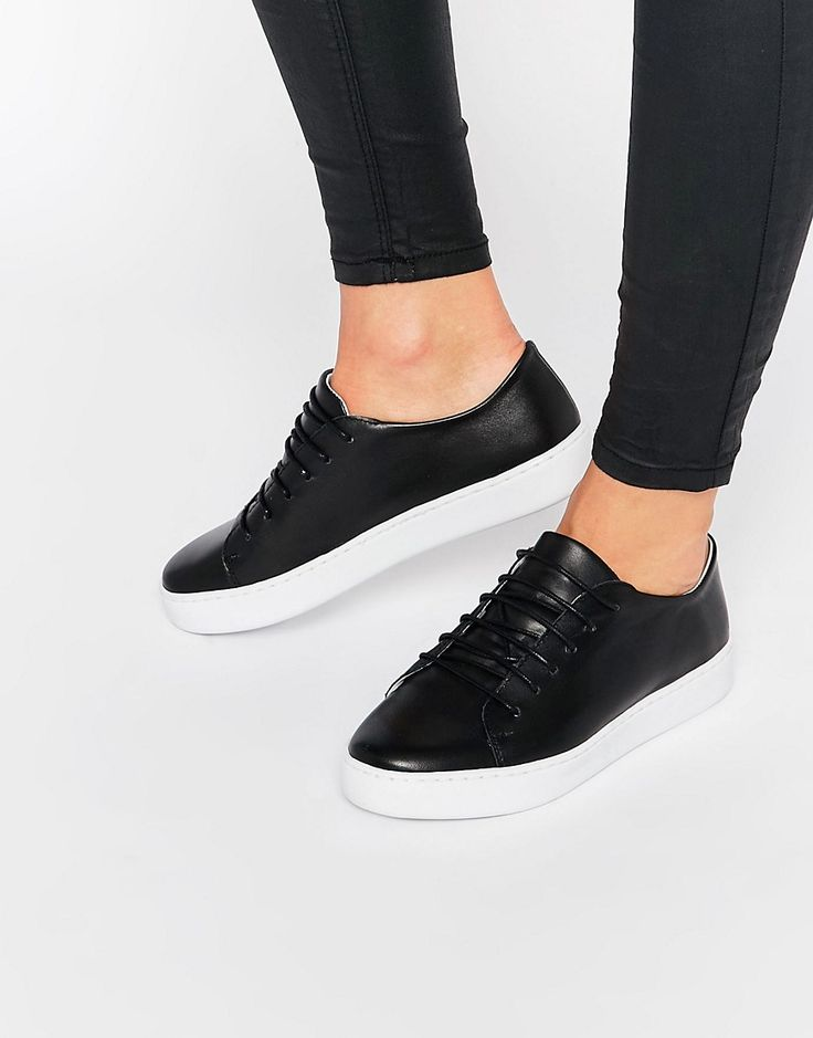 SixtySeven+Irma+Black+Lace+Up+Trainers