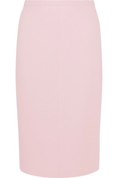 Max Mara - Bugia Stretch-wool Pencil Skirt - Pink - UK14