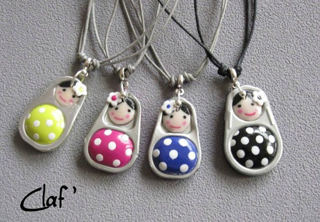 Tirette-poupette-pendentif (upcycle a tin can opener)