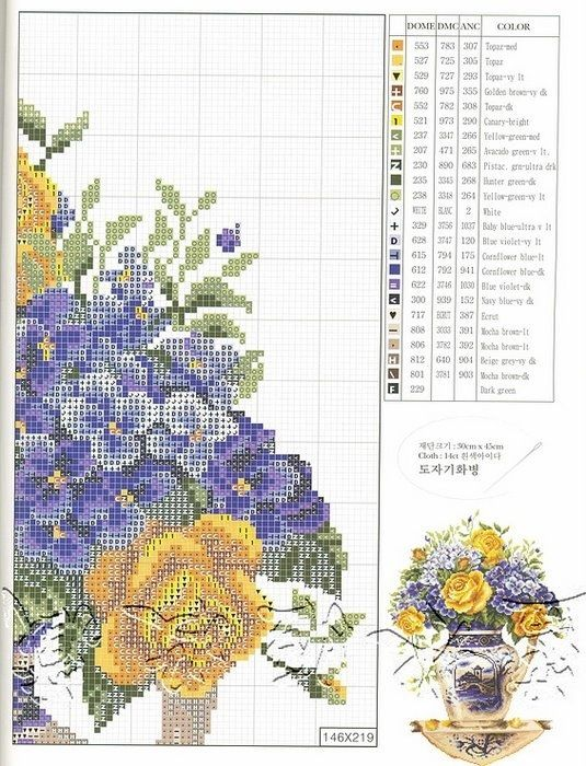 Yellow Roses  Violets (Pg 3 of 5)