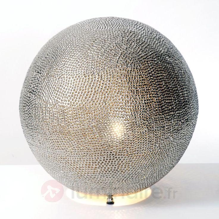lampe poser oriental 1 lampe 4512338 luminaire boule argent - Luminaire Boules Colores