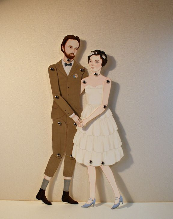 Amy Earles - Beautiful Paper Dolls #Paper #PaperDoll #PaperFastener: