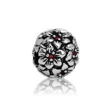 Silver and Some - Charms, Red Hibiscus End Stopper NEW www.silverandsome.co.nz