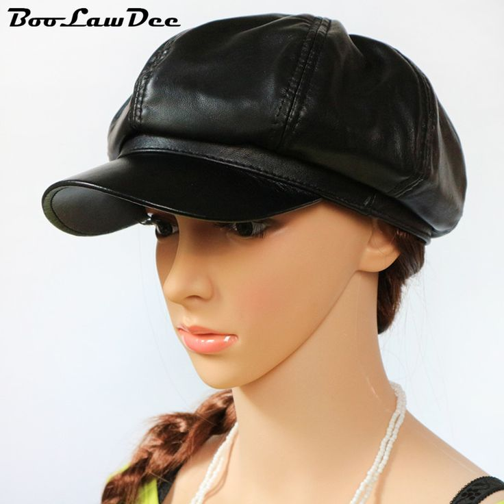 BooLawDee fashion sheep leather men and women newsboy cap for male female artist hat winter leisure warm 54 55 56 57 58cm H62018