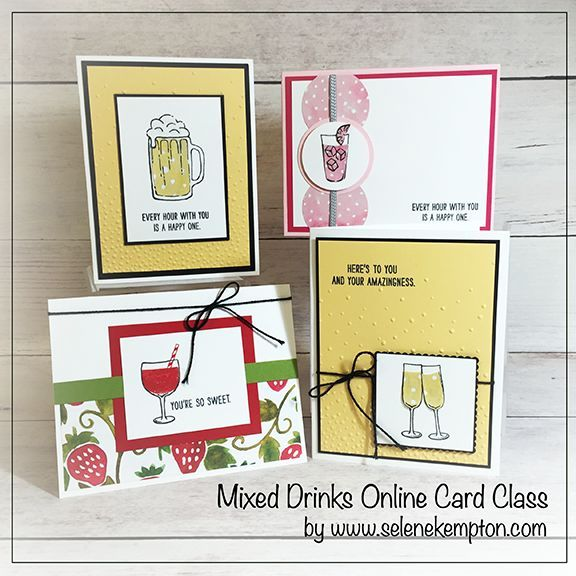 September Stampin' Up Card Class, Featuring Mixed Drinks Stamp Set, in person, to GO or Online