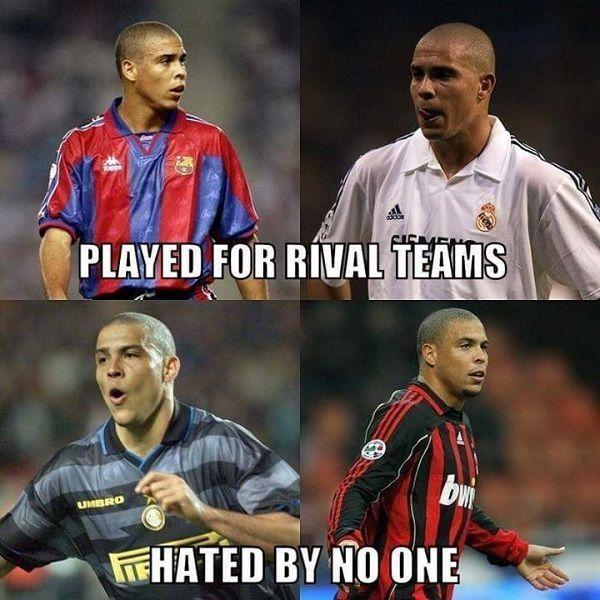 Grał dla Realu Madryt i FC Barcelony, ale wszyscy go kochali • Ronaldo lubiany jest przez wszystkich pomimo przeciwności • Zobacz >> #ronaldo #football #soccer #sports #pilkanozna