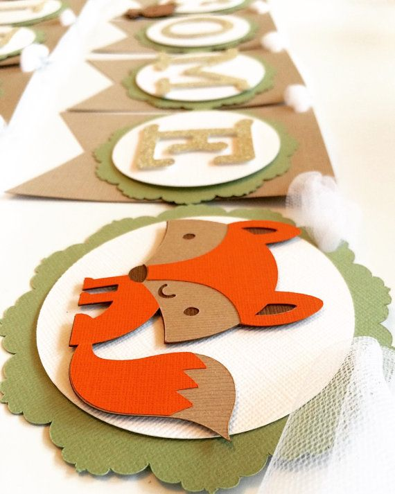 Woodland Animal Baby Banner Baby Shower by Nostresspartyforless