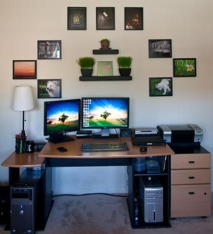 How To Decorate Your Home Office Like A Boss Gaming Set Up Pinterest Decorating Modern And House