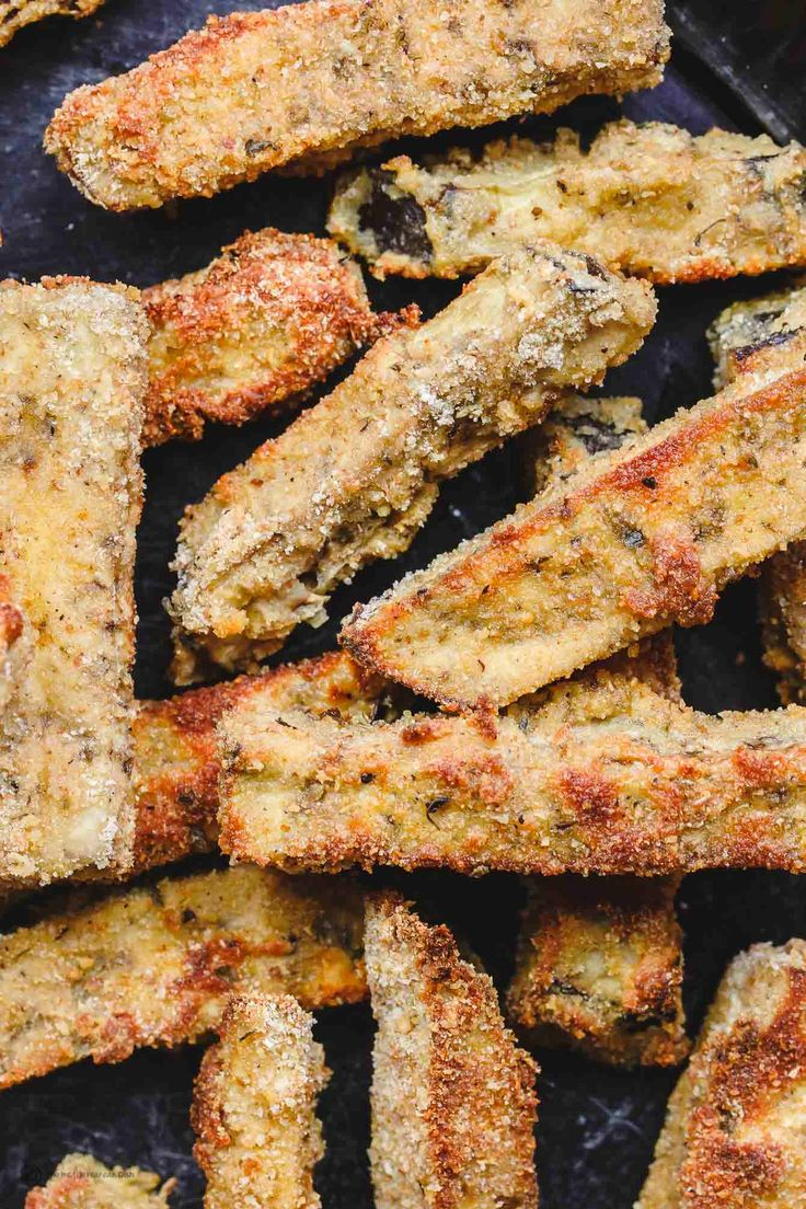 All-star eggplant fries recipe! Crispy on the outside, velvety tender on the inside! Perfect with homemade Tzatziki sauce. Quick! Vegetarian appetizer!