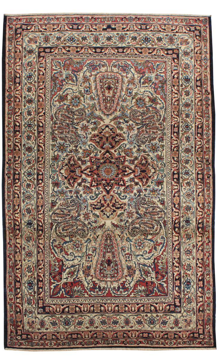 Cod. 897 Kirman Antico, 203x133 tappeto persiano antique rug