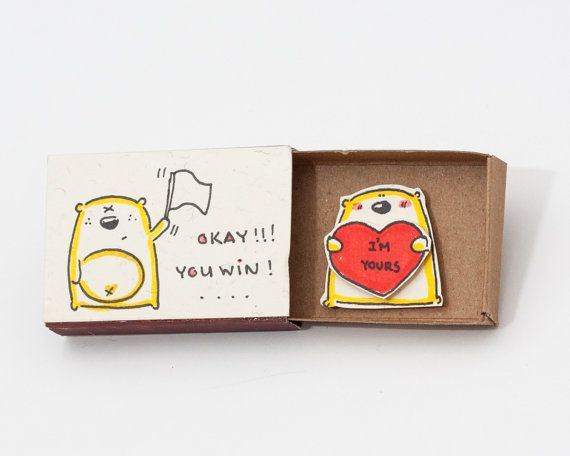 Funny Love Card I'm Yours Matchbox/ Gift box / Message by shop3xu