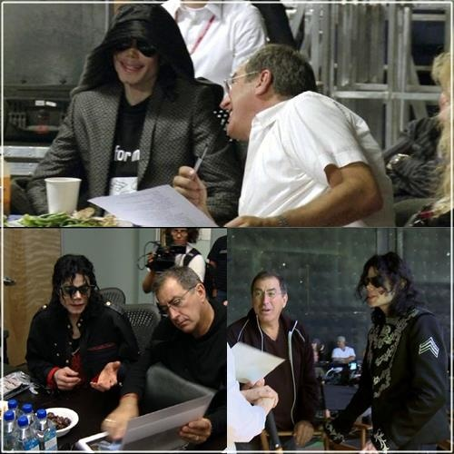 Michael and Kenny Ortega (Kenny was the producer for his This Is It concert)