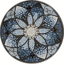mosaic table top love the black in it - Mosaic Design Ideas