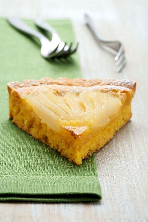 Crostata di pere con crema mandorlata