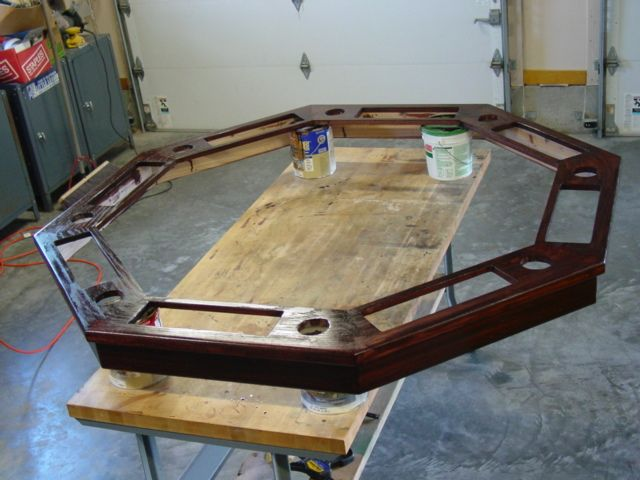 Part How To Build An Octagon Poker Table U2013 Stain, Poly, Hardware And Cloth