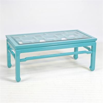 Blue Changright Turquoise Coffee Table From Worlds Away Worlds Away Blue Baby Blue