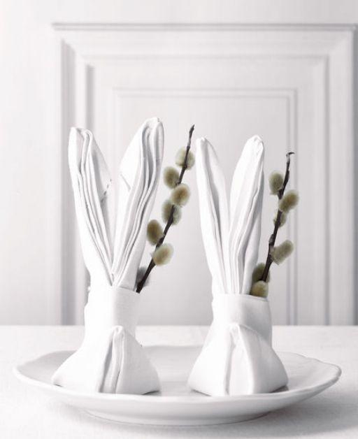 Ostern: DIY  Stoffservietten-Hase