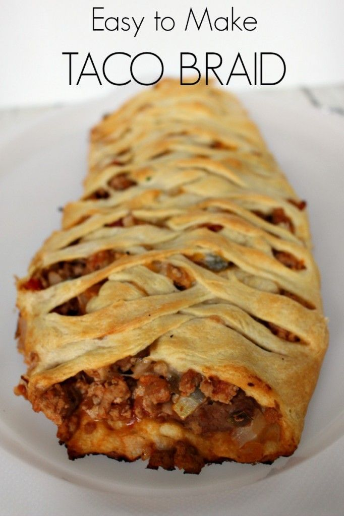 Easy and delicious Taco Braid!