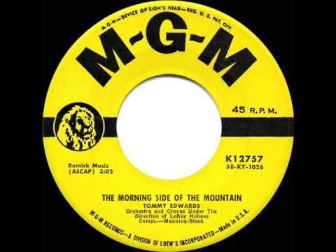 1959 HITS ARCHIVE: *The Morning Side Of The Mountain* - Tommy Edwards - YouTube