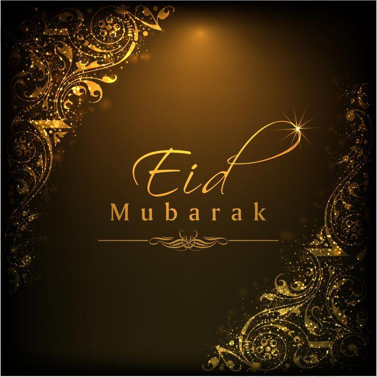 Happy Eid Wishes Quotes: Happy Eid Mubarak Greeting Card Chocolate Design Vector