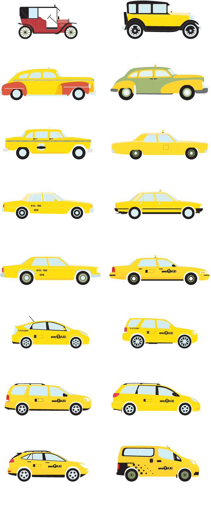 Taxis of Yesterday and Today - The New York Times