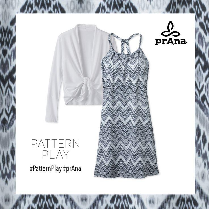 prAna Pattern Play Quinn Dress 'Short' Length $70, Veeda Wrap $65 #prana #patternplay