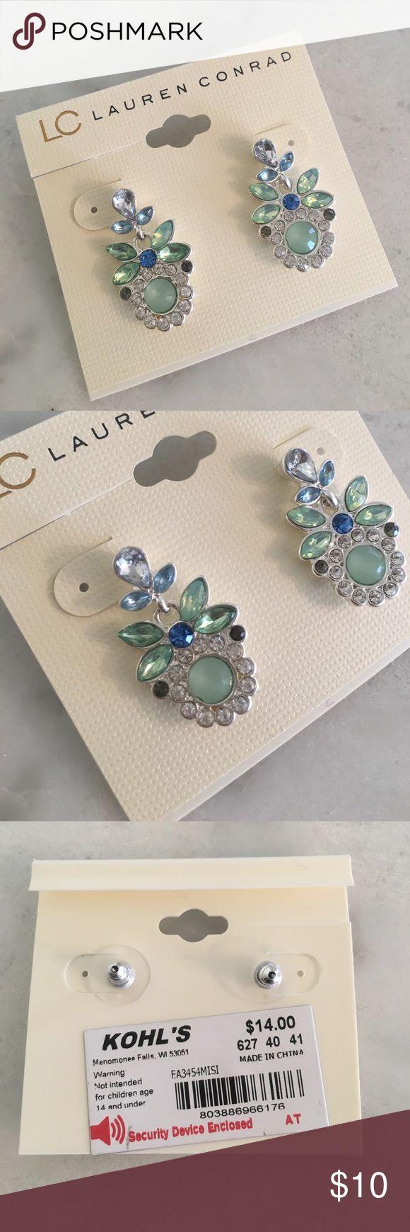 NEW WITH TAGS Lauren Conrad Earrings Sea foam green, blue, and silver Lauren Conrad earrings! New with tags! LC Lauren Conrad Jewelry Earrings
