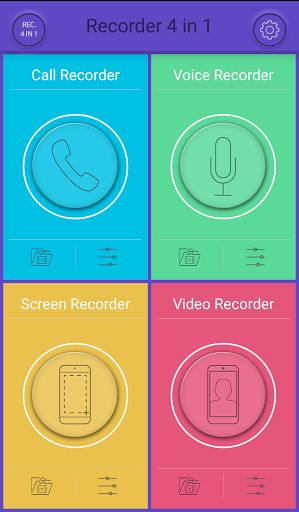 "Recorder 4 in 1 PRO v2.1.2   Recorder 4 in 1 PRO v2.1.2Requirements:5.0 and upOverview:Recorder 4 in 1 PRO. Call recorder Voice recorder Screen recorder Video recorder Spy recorder. Secret recorder. Hidden recorder. Still looking for a recorder that has multiple functions? Look no further than our newly introduced app ""Recorder 4 in 1 PRO"". Call recorder - incoming call recorder outgoing call recorder. Call recorder secret video recorder secret voice recorder screen recorder - (require…"