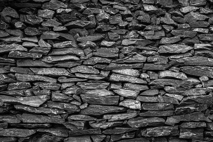 HD wallpaper black stone fragment lot, Wall, Texture