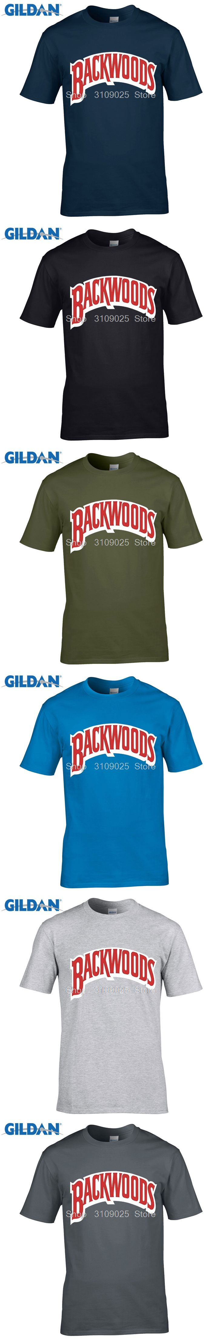 GILDAN customised t-shirts Diy Men's Backwoods Logo Short-Sleeve Tech T-Shirt Beverly Rubio