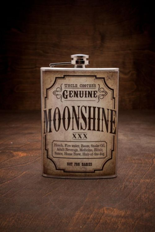 infinite-paradox: mexicanfireworks: Get it here: Uncle Cooter's GENUINE Moonshine Flask
