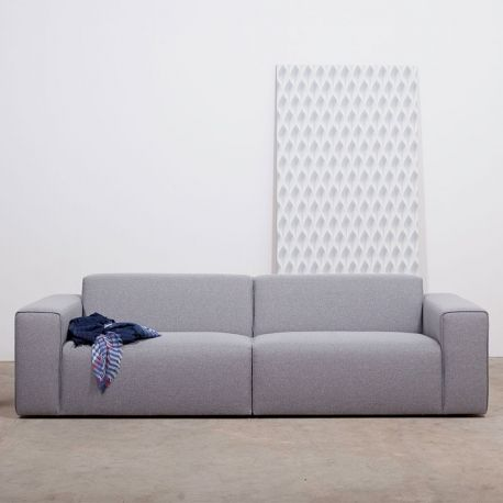 Akito Sofa is a cool modern modular design; simple yet comfortable in 3 seater or love seat size options, upholstered in hard wearing fabrics.