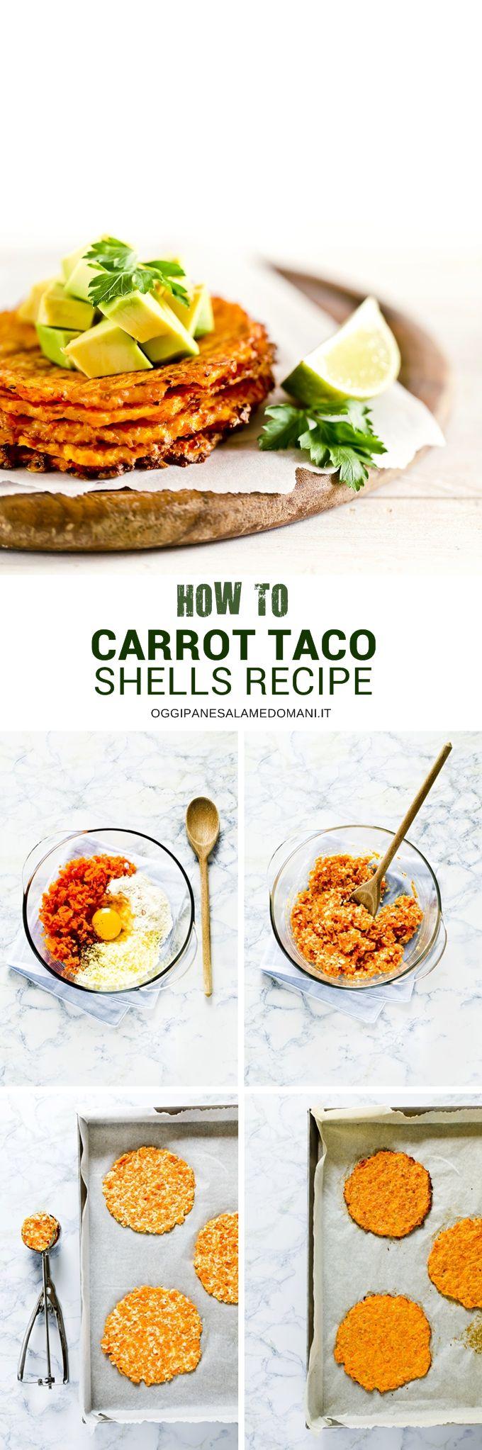 GLUTEN FREE CARROT TACO SHELLS - tacos - tacos di carote - carrot tacos shells - how to make carrot tacos shells - tacos vegetariani - veg tacos