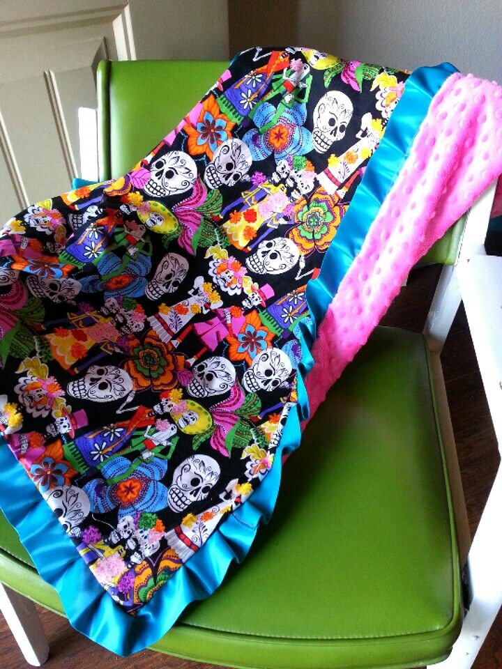 day of the dead baby blanket dia de los muertos httppeachhousecreations