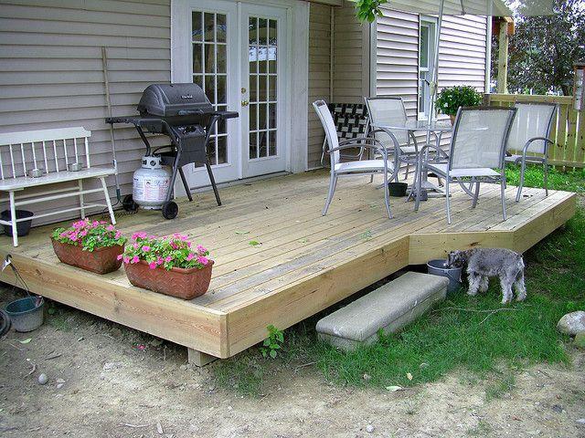 deck off of sliding door | Cute simple deck, would just ... on Backdoor Patio Ideas id=90410