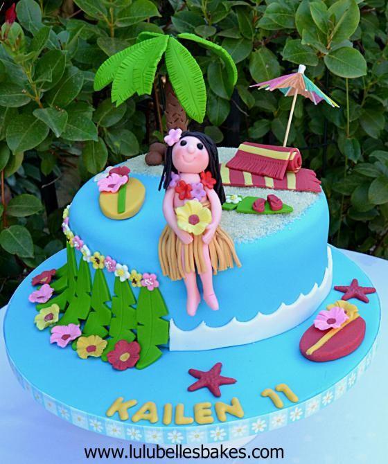 Luau Birthday Cake Images