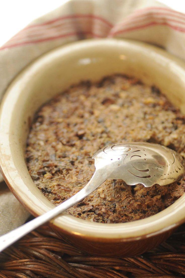 svampe/valnøddepostej m ovnbagte rodfrugter