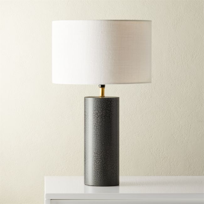 Sahara Grey Table Lamp Cb2 In 2020 Grey Table Lamps Modern Table Lamp Concrete Table Lamp Living room table lamps grey