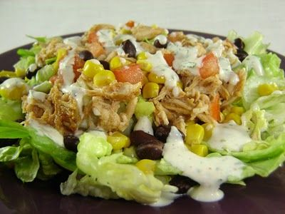 BBQ chicken salad with creamy cilantro dressing from Eat Cake for Dinner