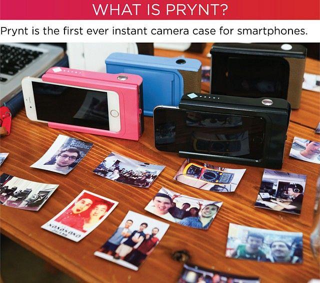 スマホがインスタントカメラになるスマホケース : Prynt