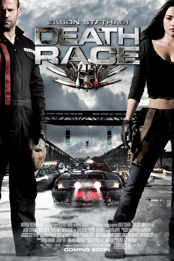 Death Race ~ Jason Statham, Jason Clarke, Joan Allen, Tyrese Gibson, David Carradine.