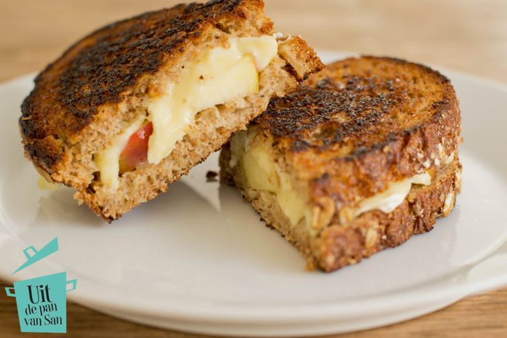 Pantosti met brie en appel - Uit de pan van San
