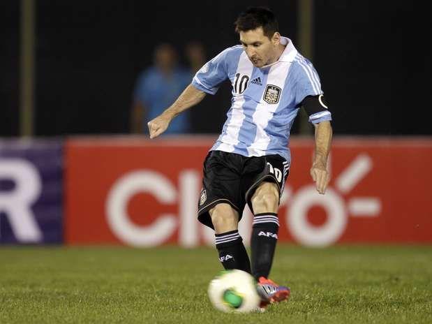 Lionel Messi con la maglia della sua nazionale (Argentina)