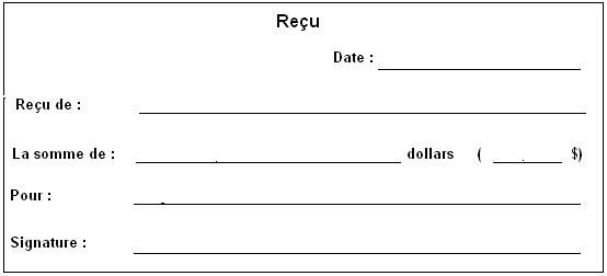 Exemple de reçu de paiement | A imprimer, Paiement, Faire soi meme