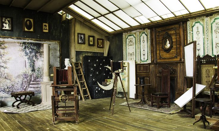 Turkey-based artist Ali Alamedy had been building miniature sets for seven years when he came across documentation of Charles Miner's photography studio from the early 1900s. Inspired by the way sunlight was used to illuminate studio sets, Alamedy decided to build his own version in 1:12 scale.