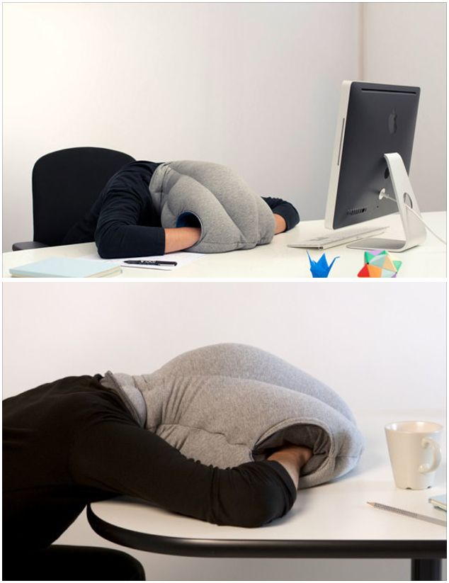 The most inconspicuous way to sleep at your desk.