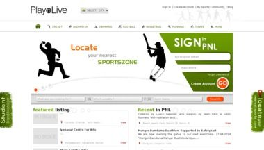 Playnlive lets you find your favourite sports nearby.