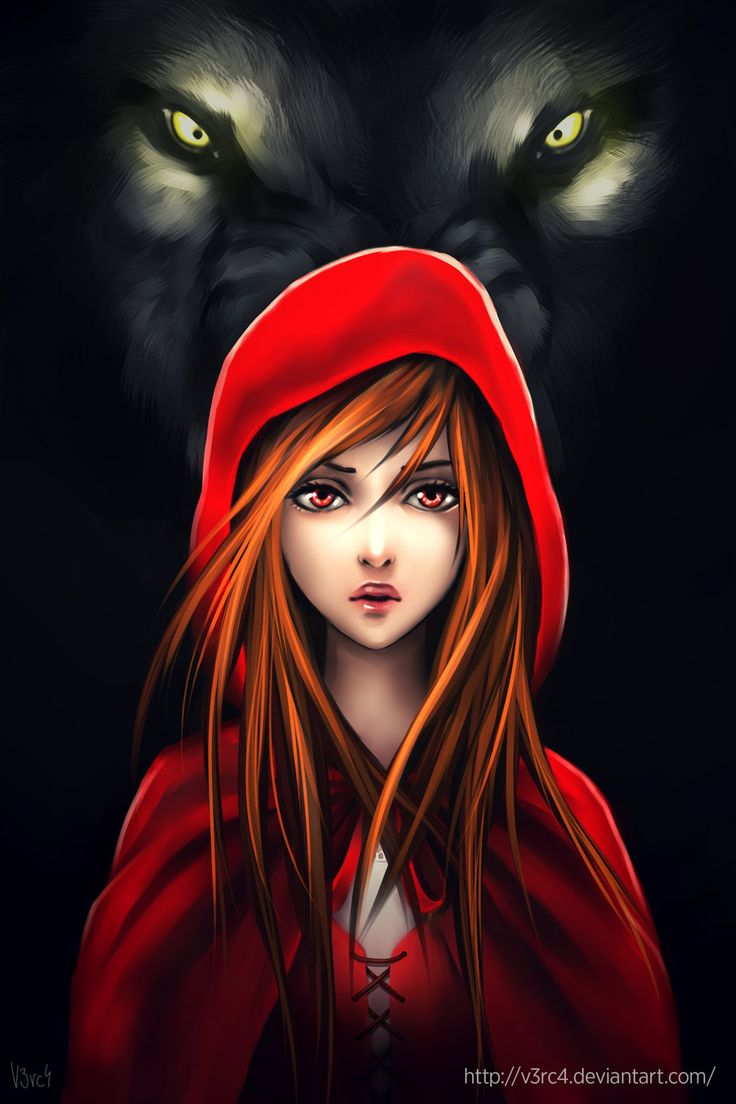 She was once Red Riding Hood but really, inside she was the wolf all along(Mia)