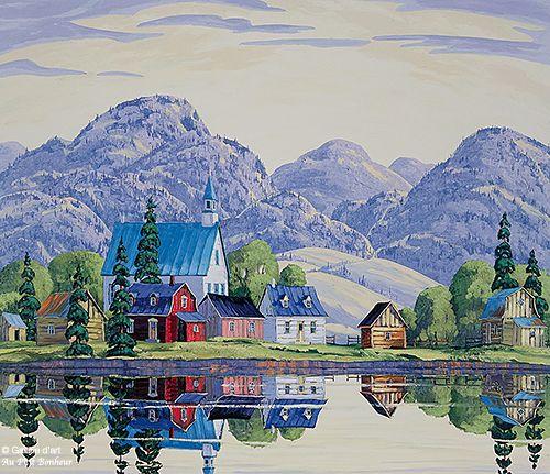 Vladimir Horik, 'St-Aimé-des-Lacs', print/reproduction | Galerie d'art - Au P'tit Bonheur - Art Gallery