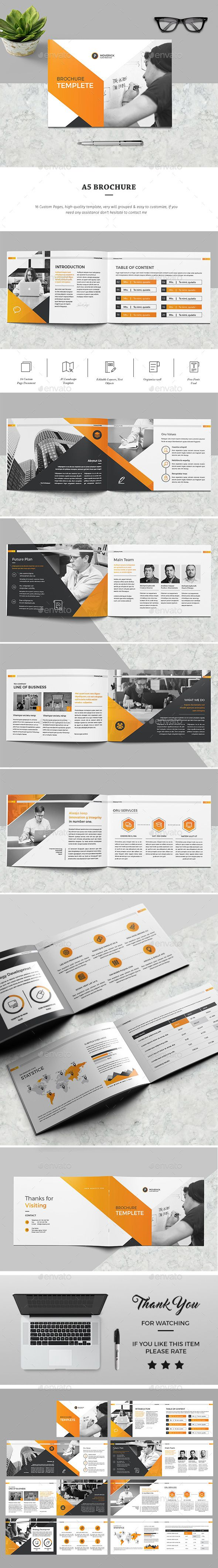 A5 Brochure — InDesign INDD #trendy #visual • Download ➝ https://graphicriver.net/item/a5-brochure/19454727?ref=pxcr